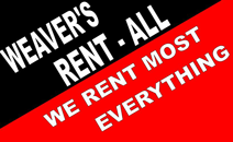 Weaver's Rent-All in Normal IL, Bloomington Illinois, Peoria, Champaign, Springfield, Decatur, Lincoln