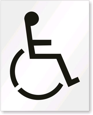 Where to find STENCIL, PARKING LOT HANDICAP in Bloomington
